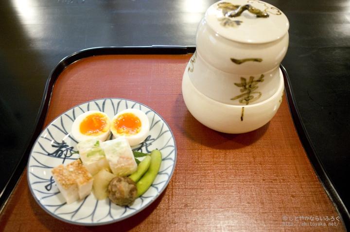 「瓢亭」で食べる朝粥♪ 4,500円の京都贅沢朝ごはん